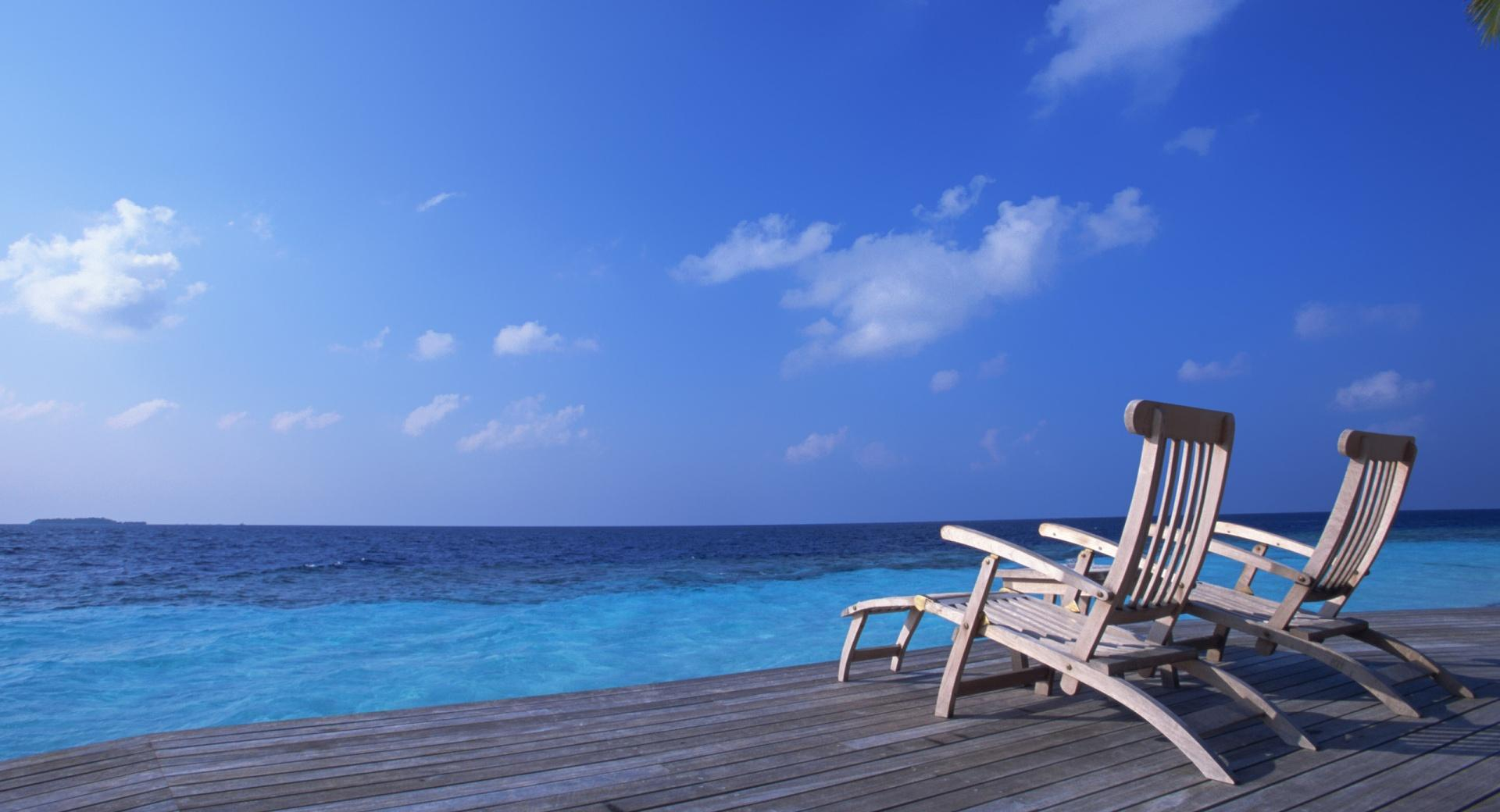 Canvas Chairs On Tropical Island wallpapers HD quality