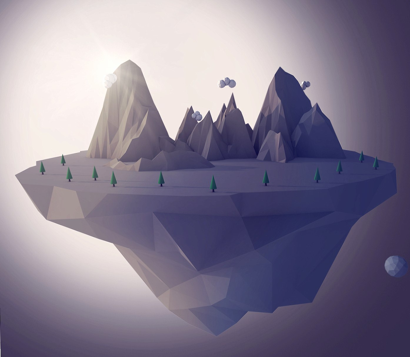 Floating Mountain wallpapers HD quality