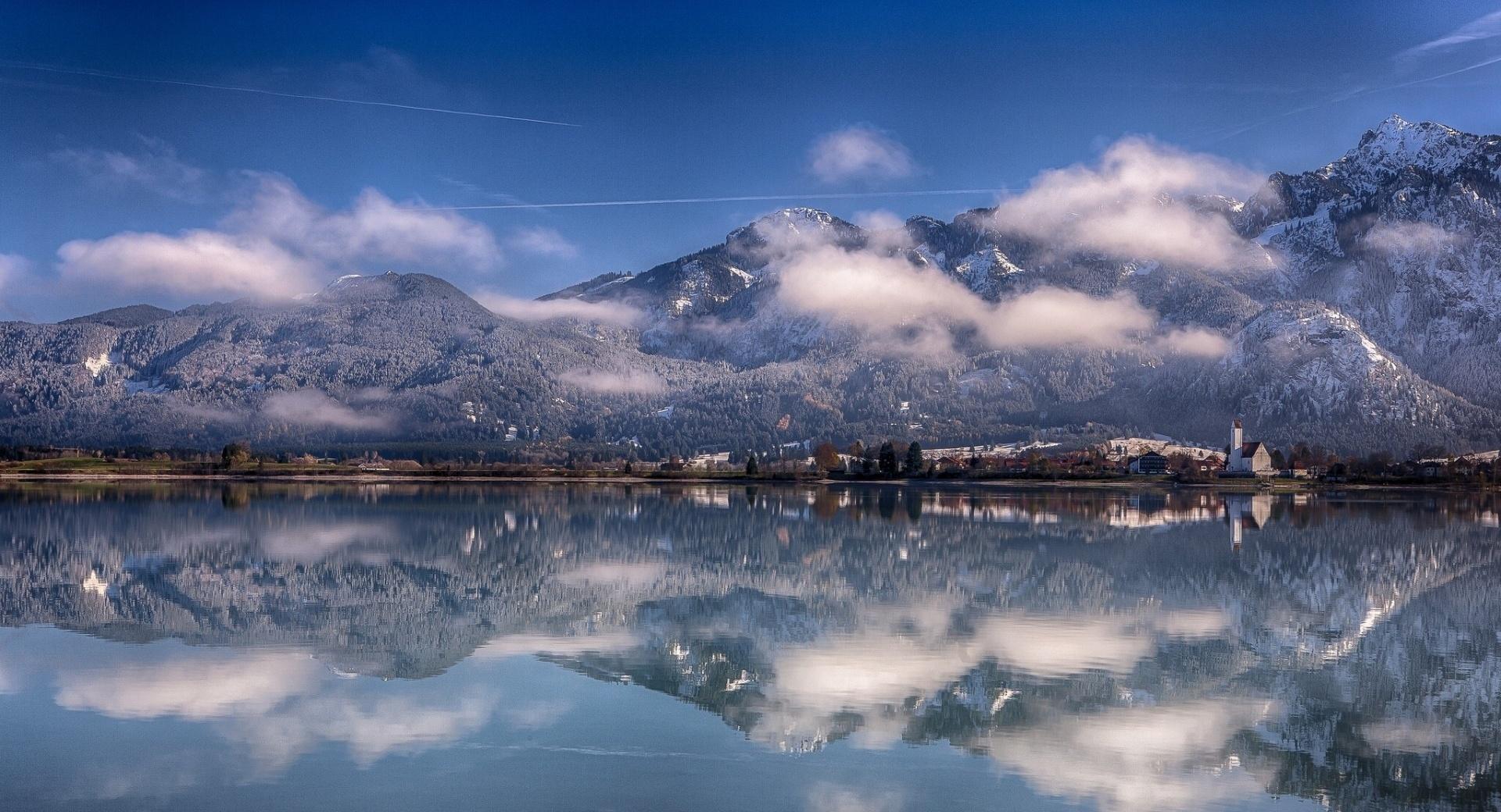 Forggensee Lake, Bavaria, Germany wallpapers HD quality