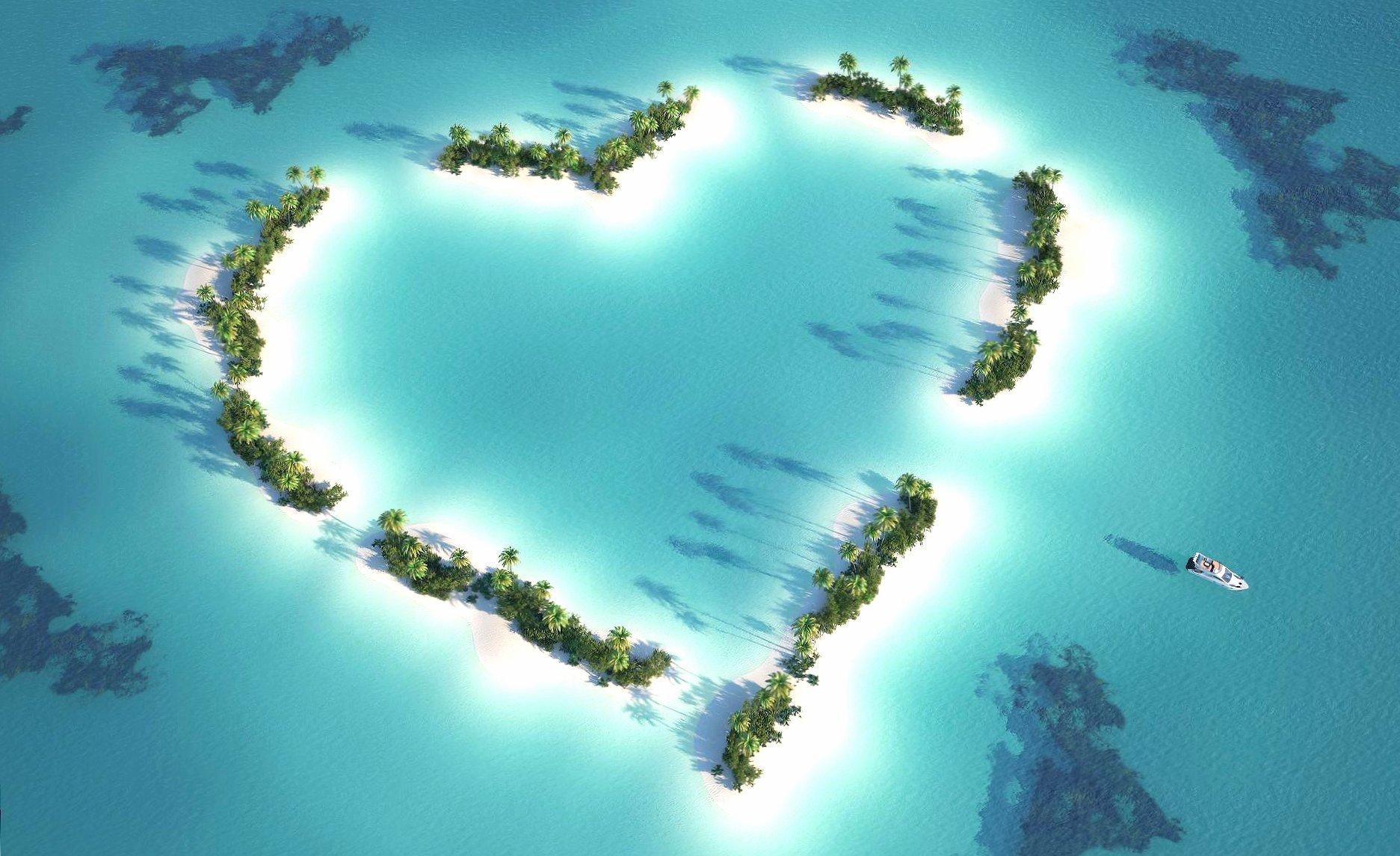 heart island archipelago wallpapers HD quality