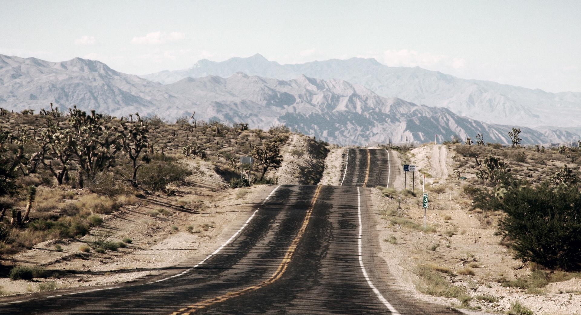 Long Desert Road wallpapers HD quality