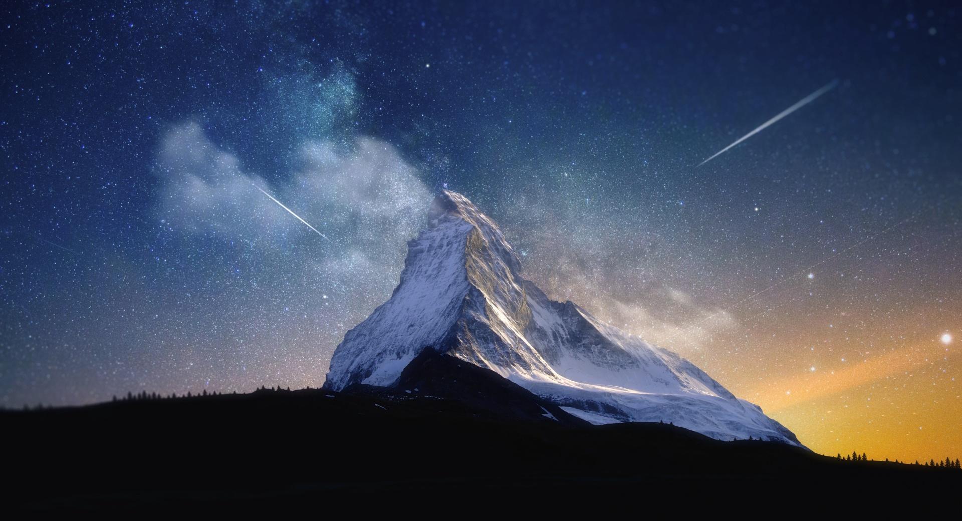 Milky Way Mountain by Yakub Nihat wallpapers HD quality