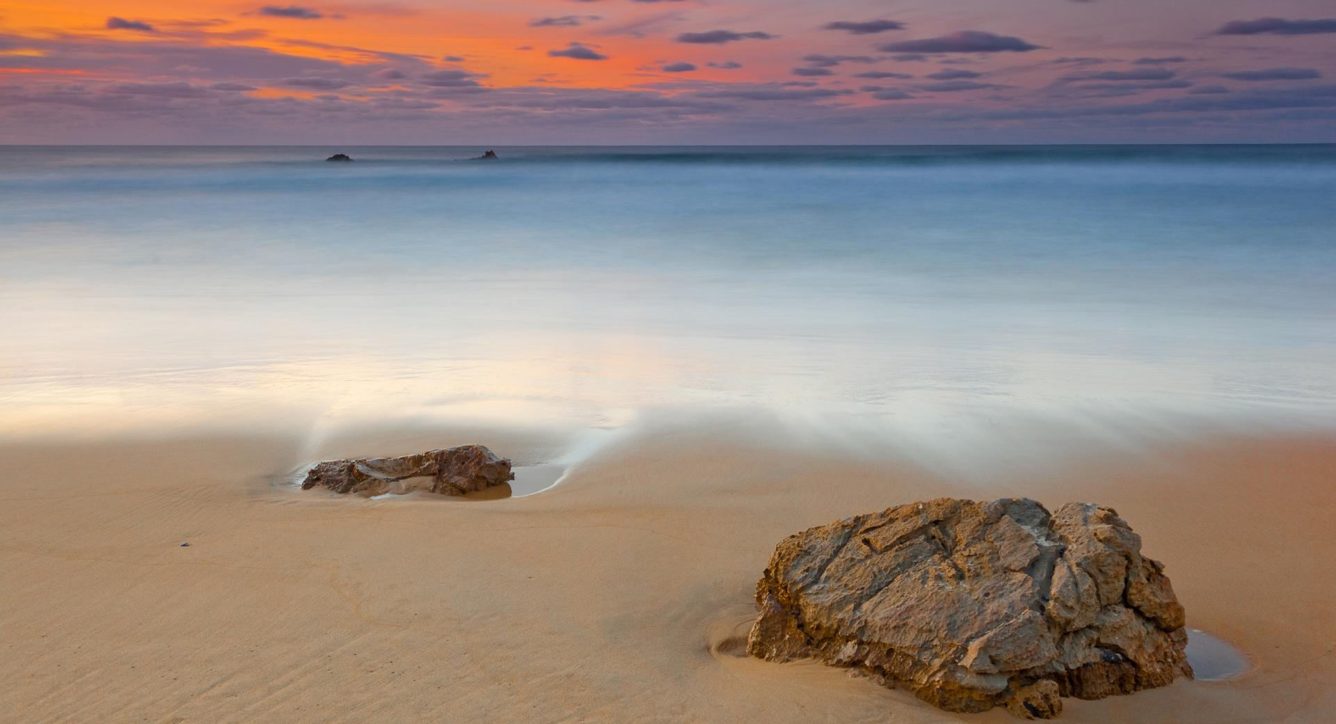 Ocean Shore, Evening wallpapers HD quality