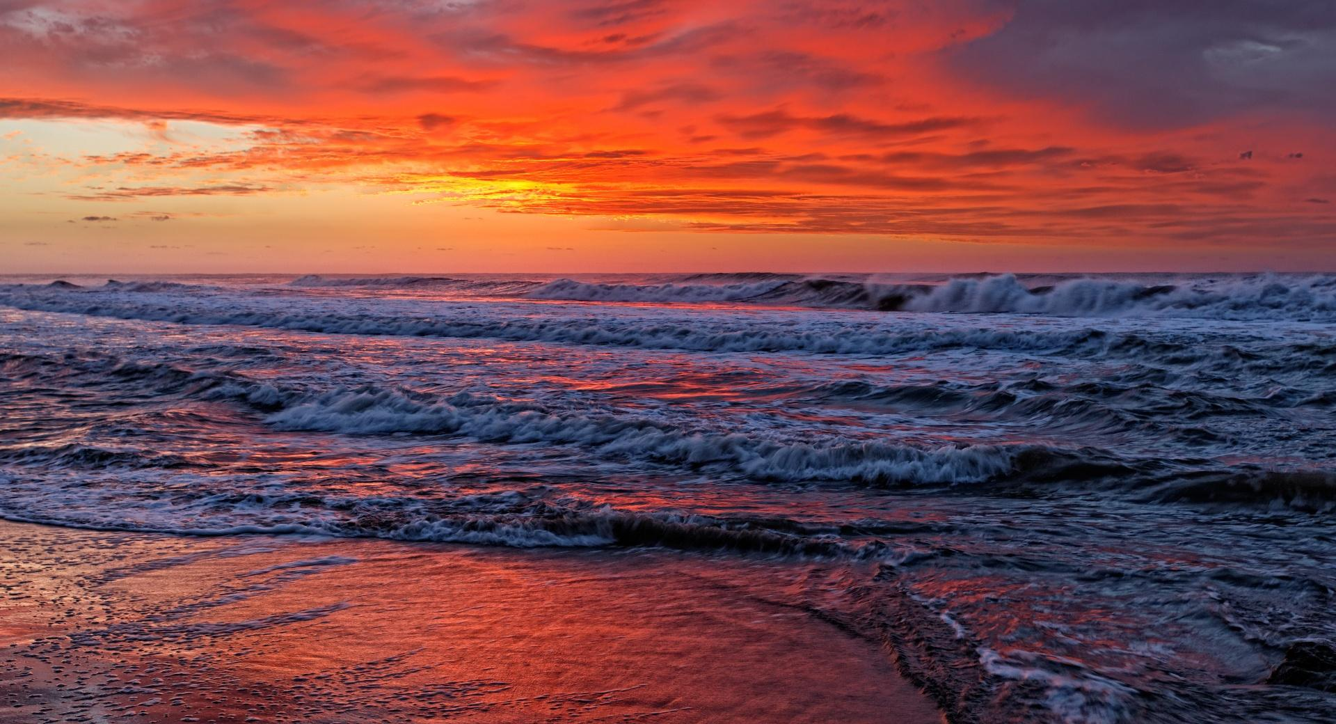 Red Sunset Sky wallpapers HD quality