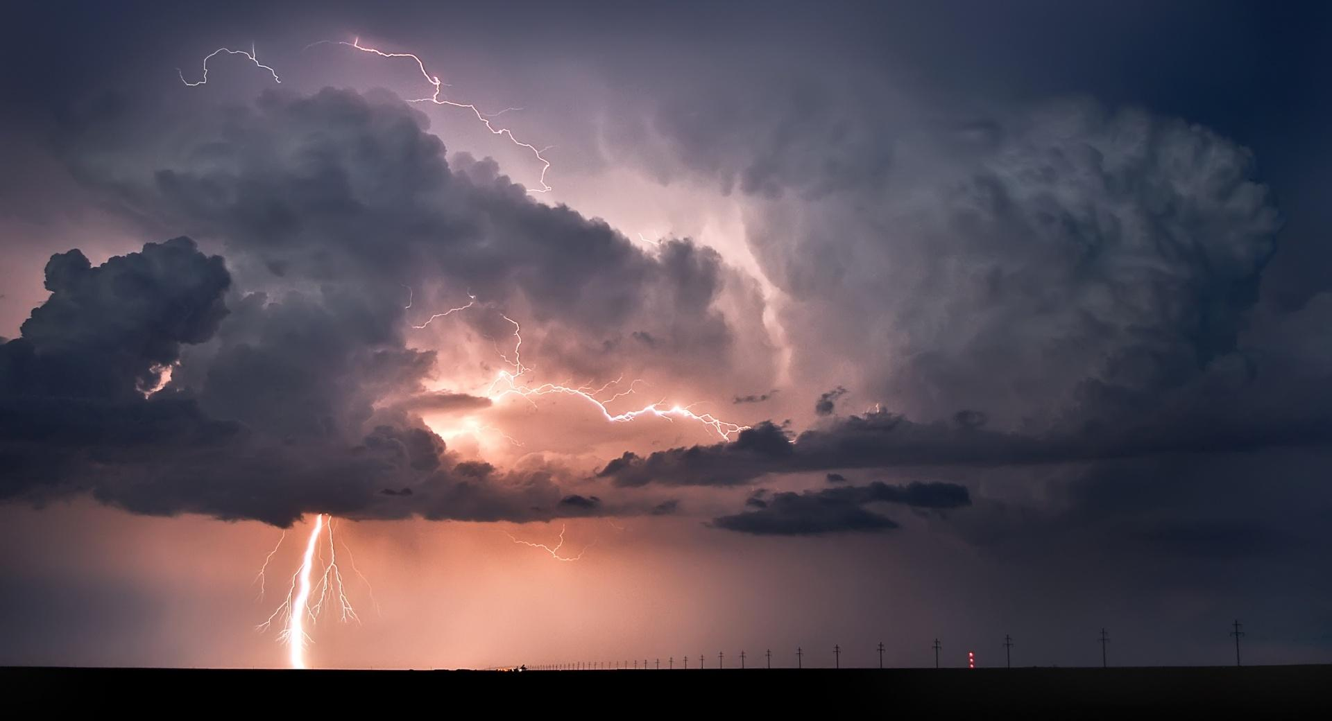 Road Lightning wallpapers HD quality