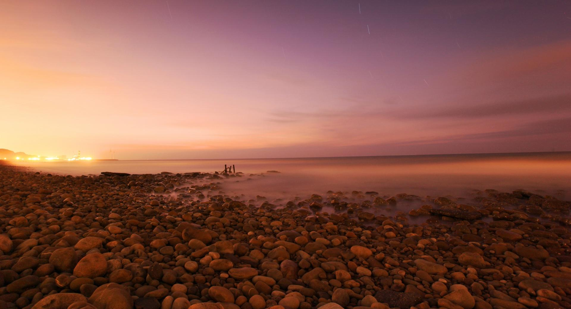 Rocky Beach, Evening wallpapers HD quality