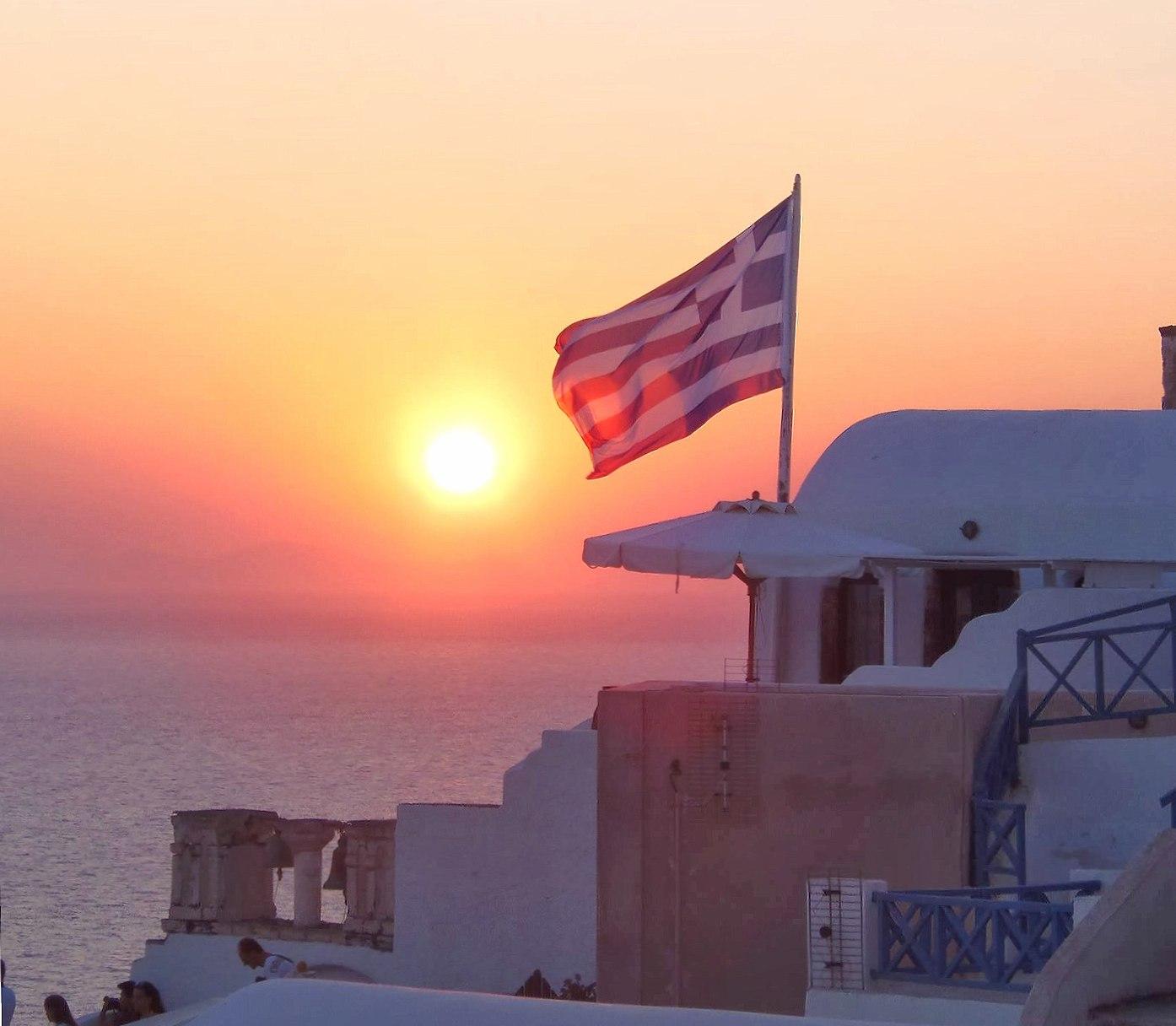 Santorini sunset wallpapers HD quality