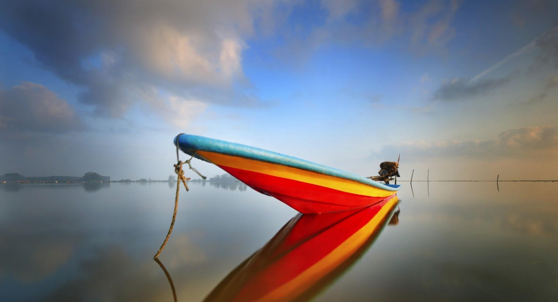 Sea Boat Calm wallpapers HD quality