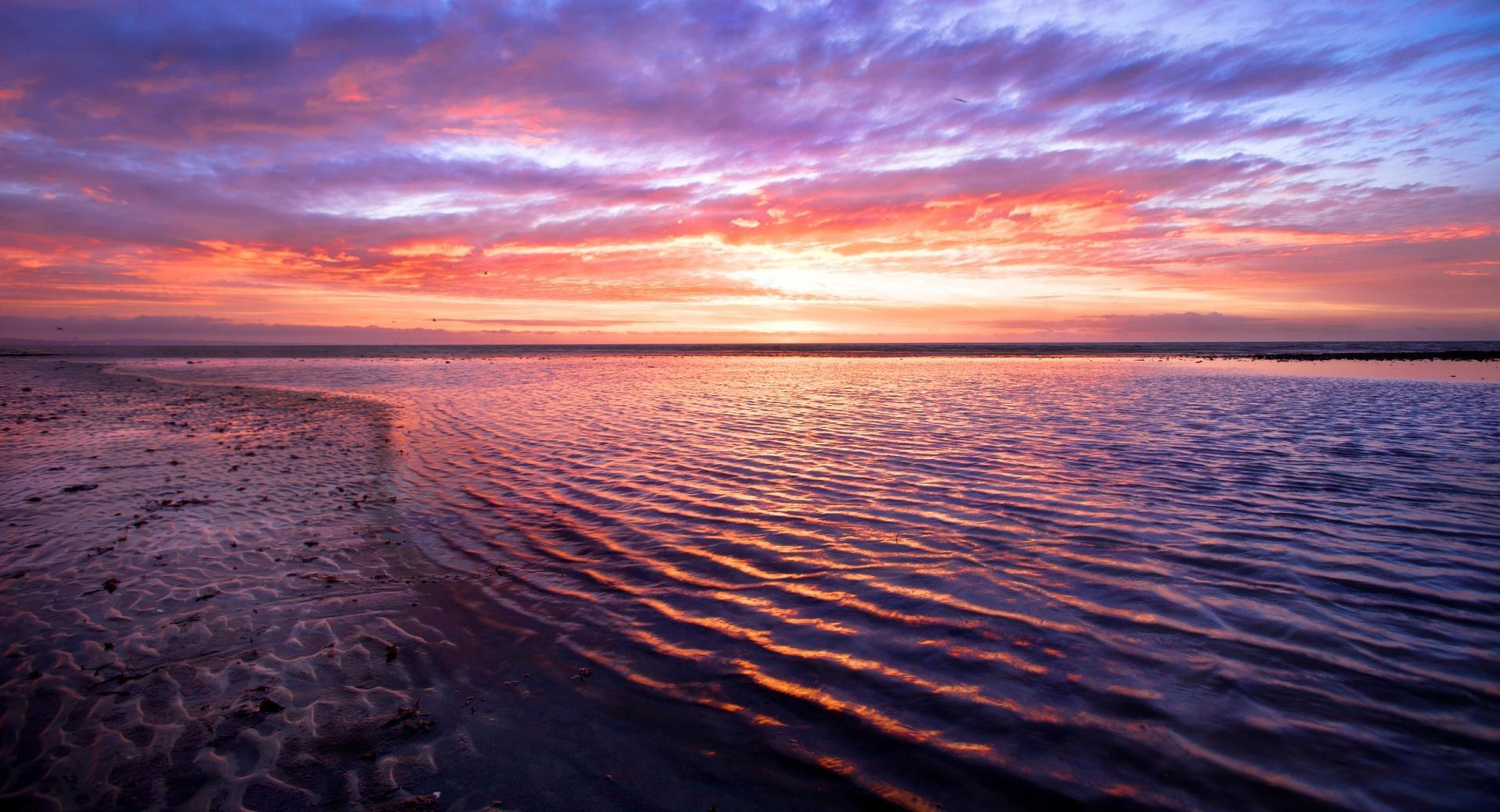 Sea Horizon, Sunset wallpapers HD quality