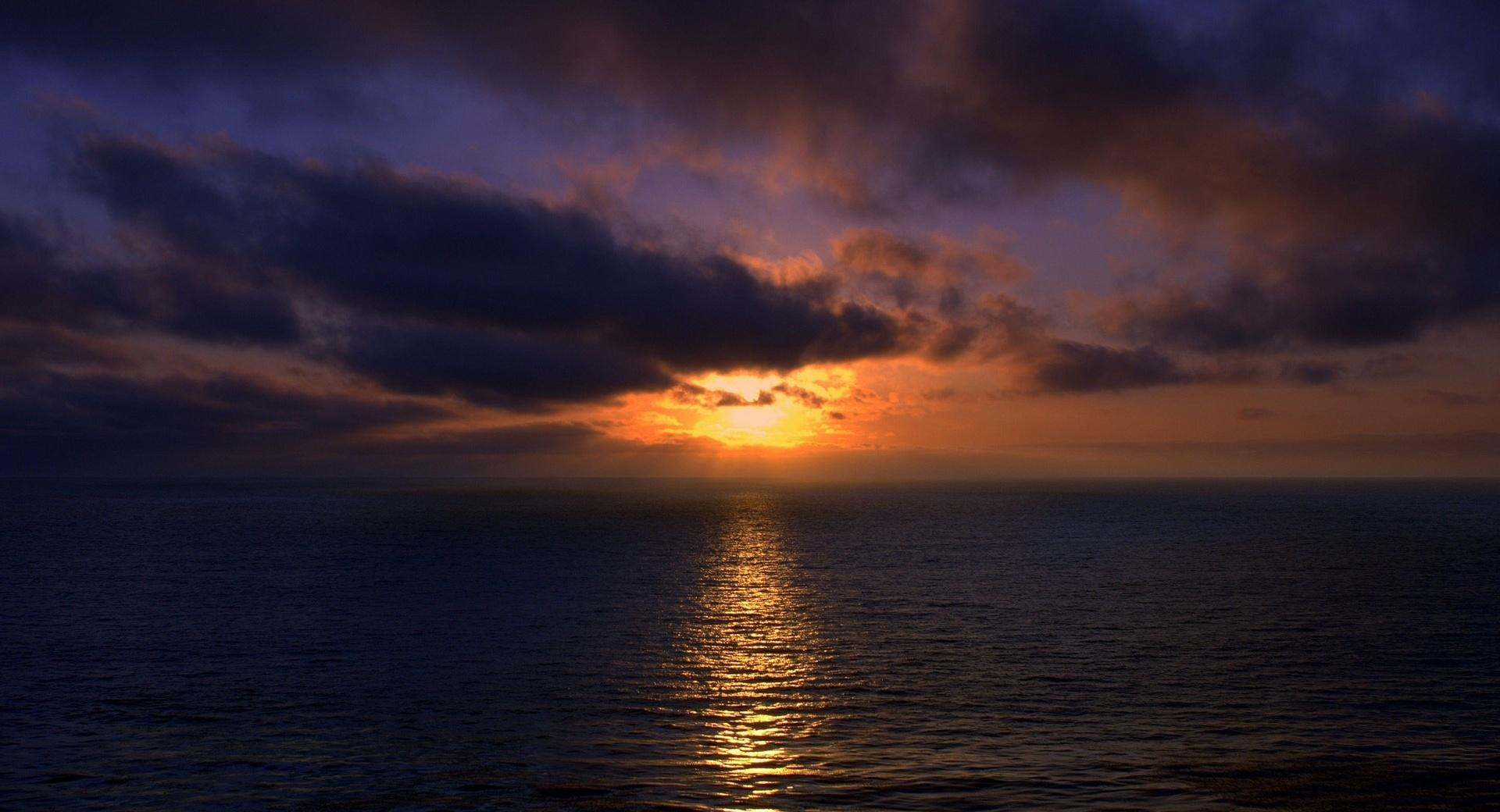 Sunset, Open Sea wallpapers HD quality