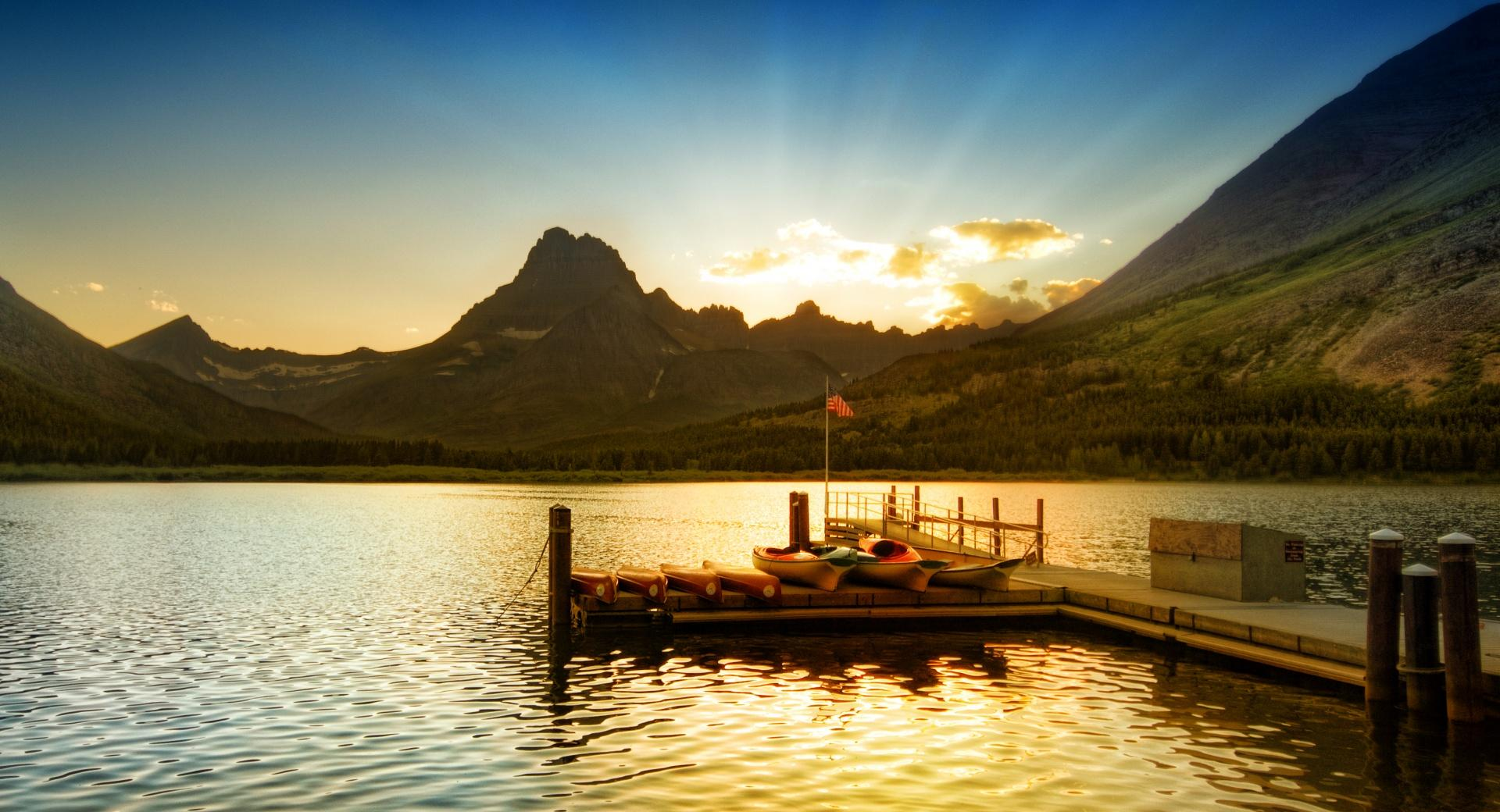 Sunset At Glacier National Park wallpapers HD quality