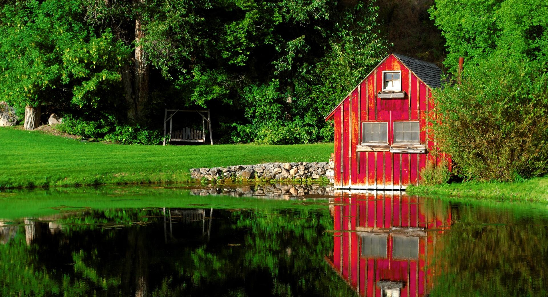 The Little Red Shed wallpapers HD quality