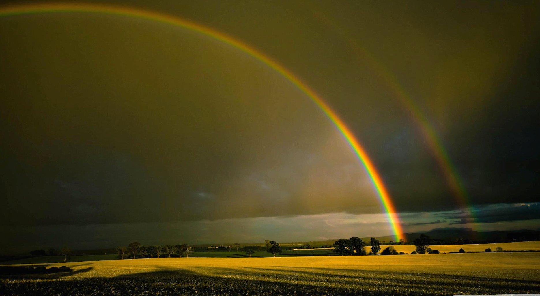 Twin rainbow wallpapers HD quality