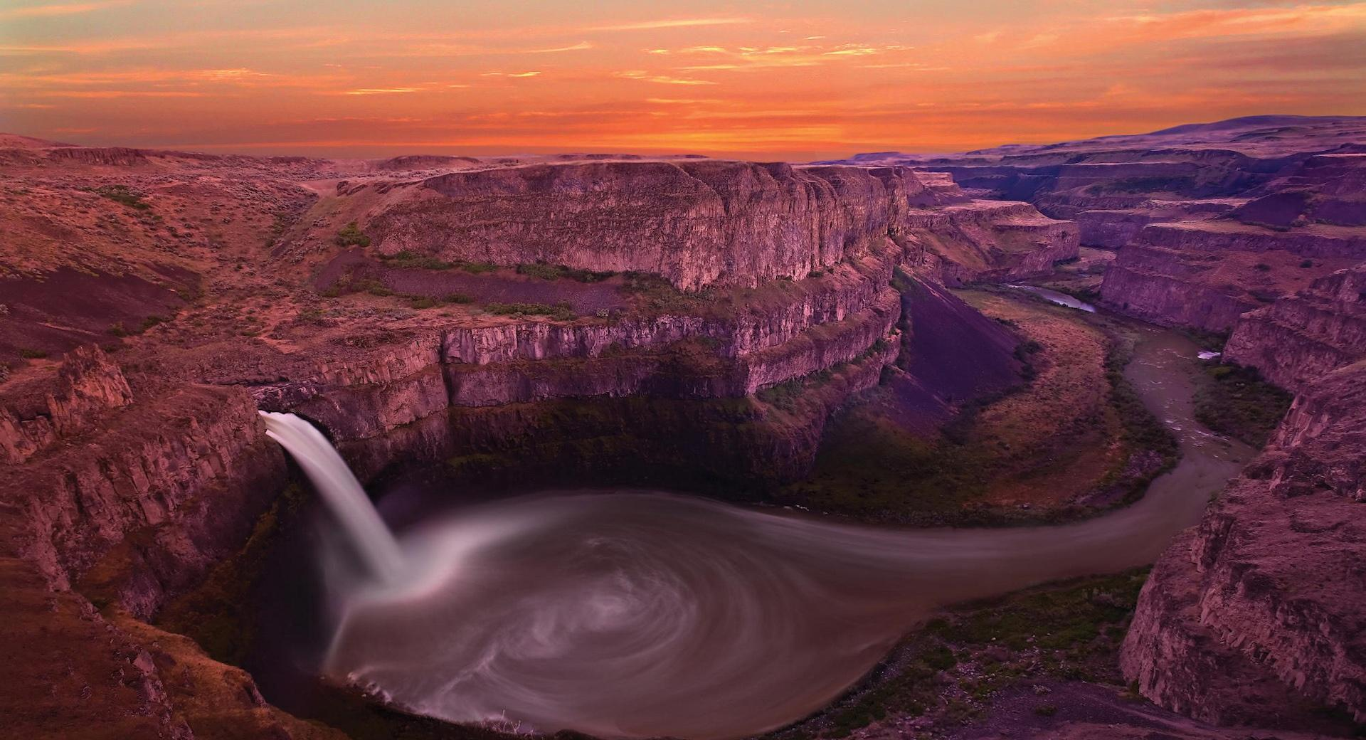 Waterfall, Canyon wallpapers HD quality