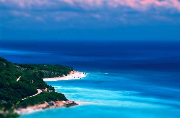 Caribbean Coast Tilt-Shift wallpapers hd quality