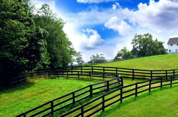 Farm Fencing HDR wallpapers hd quality