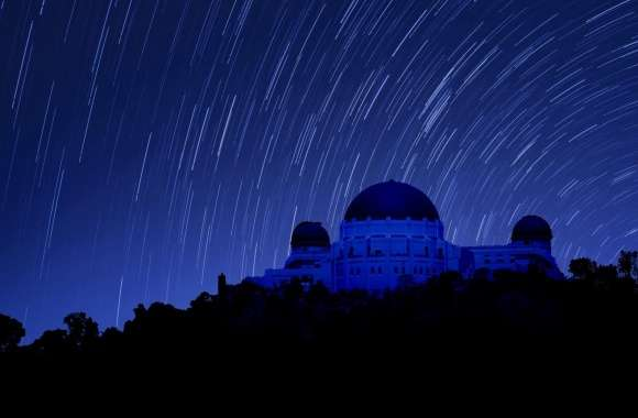 Griffith Observatory at Night, Star Trails