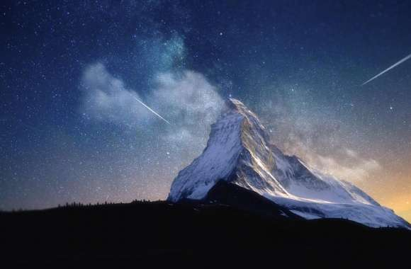 Milky Way Mountain by Yakub Nihat wallpapers hd quality
