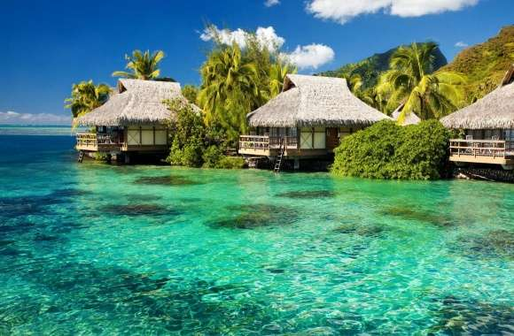 Overwater Bungalows wallpapers hd quality