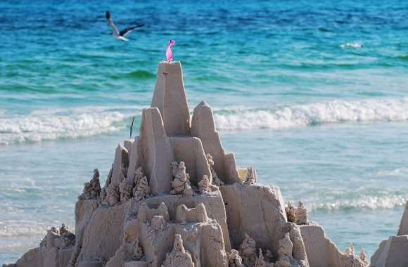 Sandcastles On The Beach wallpapers hd quality
