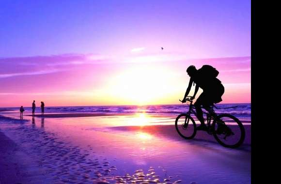 Sea sunset biker wallpapers hd quality