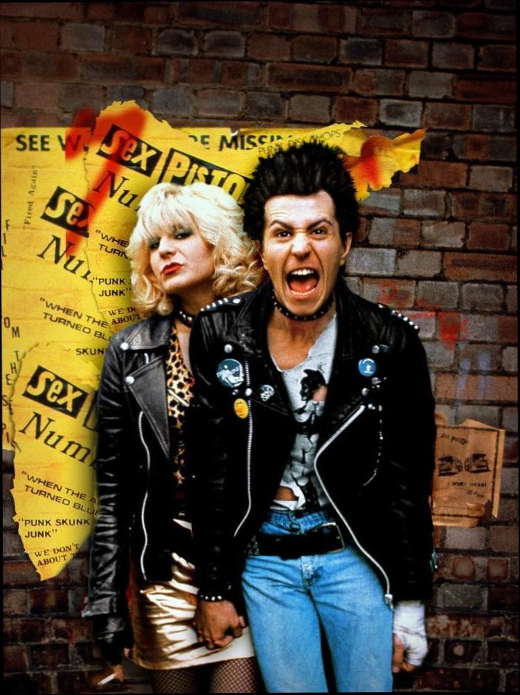 Sid and Nancy at 2048 x 2048 iPad size wallpapers HD quality